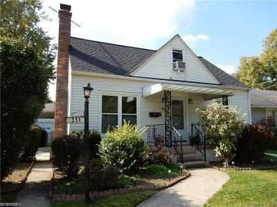 Berea Single Family Home For Sale: 351 High St