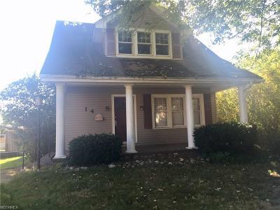 Zanesville Single Family Home For Sale: 14 Ceramic Ave