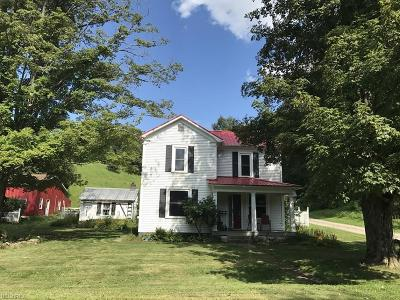 Guernsey County Single Family Home For Sale: 64472 Cooks Run Rd