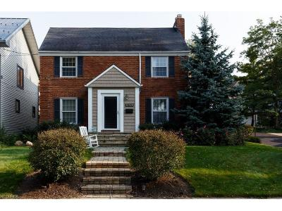 Rocky River Single Family Home For Sale: 20729 Morewood