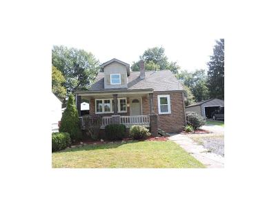 Hubbard OH Single Family Home For Sale: $58,000