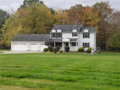 Middlefield Single Family Home For Sale: 16560 Old State Rd