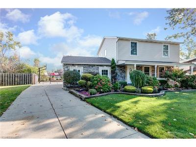 Mentor-On-The-Lake Single Family Home For Sale: 5583 Reef Rd