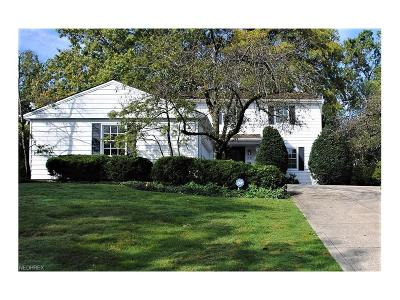 Shaker Heights Single Family Home For Sale: 2684 Green Rd