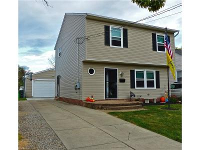 Wickliffe Single Family Home For Sale: 1681 Mapledale Rd