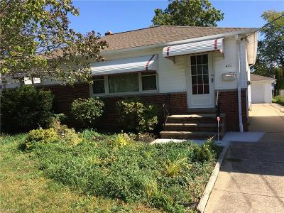 Willowick Single Family Home For Sale: 471 Cole Plaza