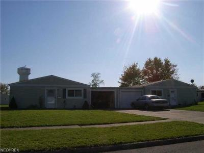 Lorain OH Single Family Home For Sale: $49,500
