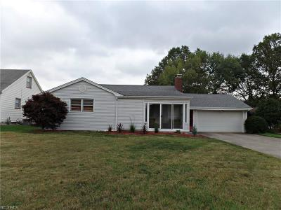 Youngstown Single Family Home For Sale: 4152 Kirk Rd