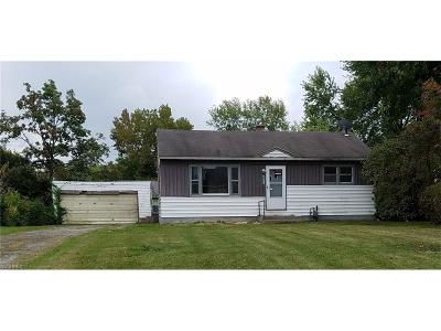 Youngstown Single Family Home For Sale: 3831 Cannon Rd