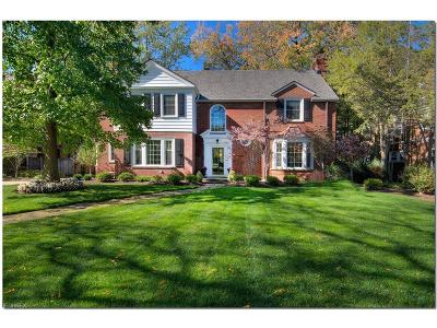 Shaker Heights Single Family Home For Sale: 2720 Inverness Rd