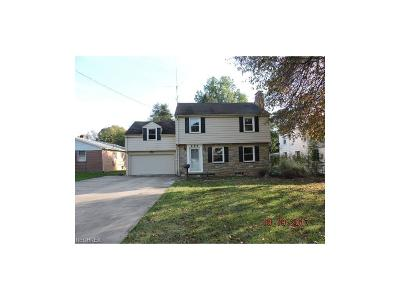 Youngstown OH Single Family Home For Sale: $77,900