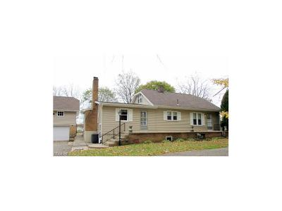 Youngstown Single Family Home For Sale: 8495 Hitchcock Rd