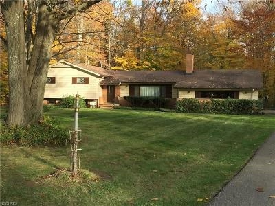 Chagrin Falls Single Family Home For Sale: 15841 Sylvan Dr