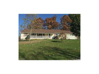 Guernsey County Single Family Home For Sale: 65964 Beeham Run Rd