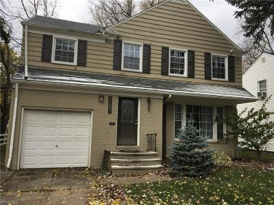 Shaker Heights Single Family Home For Sale: 19425 Chagrin Blvd