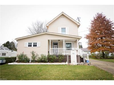 Struthers Single Family Home For Sale: 67 West Faith St