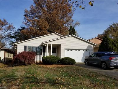 Maple Heights Single Family Home For Sale: 14943 Carol Dr