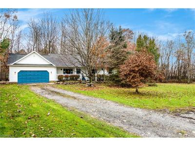 Middlefield Single Family Home For Sale: 16510 Old State Rd