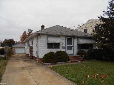 Wickliffe Single Family Home For Sale: 971 Worden Rd