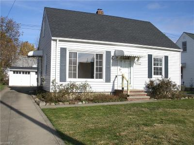 Garfield Heights Single Family Home For Sale: 13305 Shady Oak Blvd