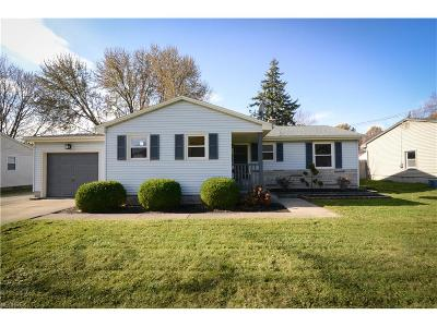 Youngstown Single Family Home For Sale: 106 Hickory Ln