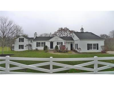 Gates Mills Single Family Home For Sale: 1300 County Line Rd