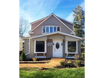 Single Family Home For Sale: 3976 Rocky River Dr