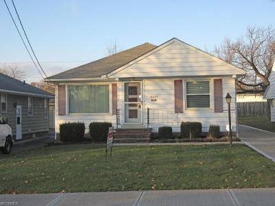Maple Heights Single Family Home For Sale: 14809 James Ave