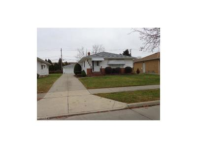 Maple Heights Single Family Home For Sale: 5503 East 141st St