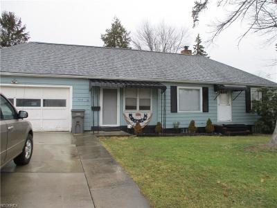 Youngstown Single Family Home For Sale: 1912 Overlook Ave