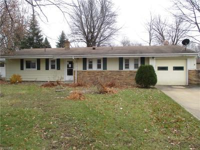Mentor Single Family Home For Sale: 8498 Hallnorth Dr