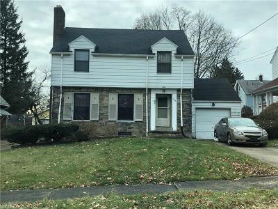 Youngstown Single Family Home For Sale: 233 Curry Pl