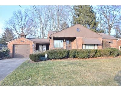 Youngstown Single Family Home For Sale: 2784 Rexford Rd