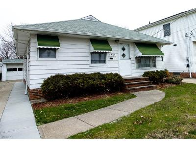 Wickliffe Single Family Home For Sale: 1561 Douglas Rd
