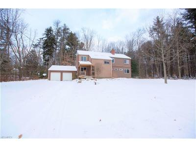 Geauga County Single Family Home For Sale: 7376 Chagrin Rd