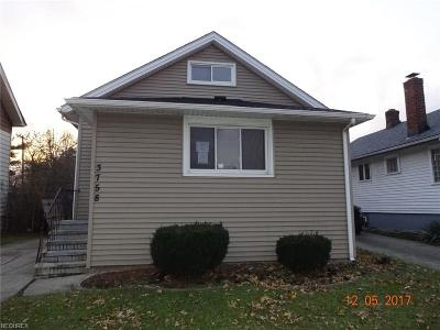 Cleveland Single Family Home For Sale: 3758 West 130th St