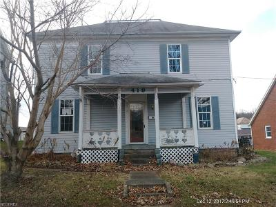 Crooksville OH Single Family Home For Sale: $27,900
