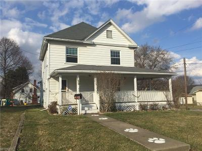 Struthers Single Family Home For Sale: 139 Sexton St