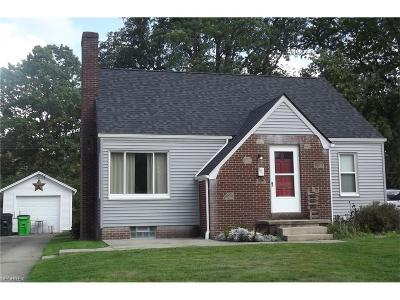 Alliance OH Single Family Home For Sale: $84,500