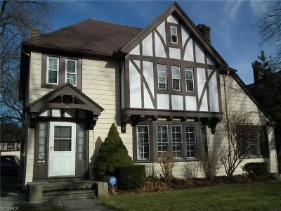 Shaker Heights Single Family Home For Sale: 3141 Chadbourne Rd