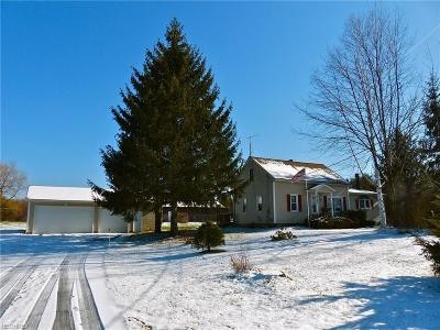 Geauga County Single Family Home For Sale: 8791 Brakeman Rd