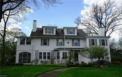Shaker Heights Single Family Home For Sale: 2708 Coventry Rd