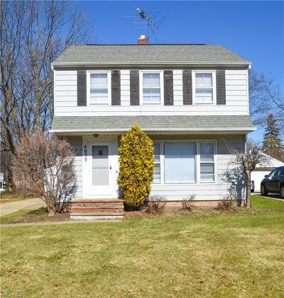 South Euclid Single Family Home For Sale: 4033 Corwin Road