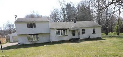 Brookfield OH Single Family Home For Sale: $84,900