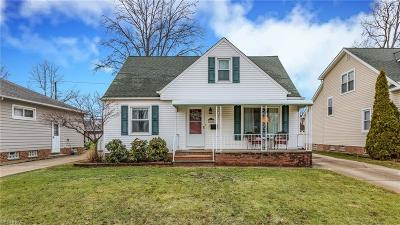 Wickliffe Single Family Home For Sale: 1608 Rush Rd