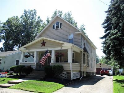 Ashtabula Single Family Home For Sale: 927 Ohio Ave