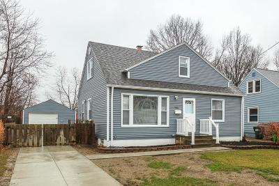 Wickliffe Single Family Home For Sale: 29696 Robert St