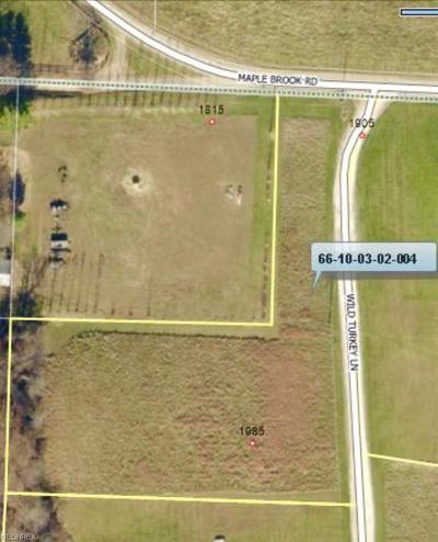 Muskingum County Residential Lots & Land For Sale: 1985 Wild Turkey Ln