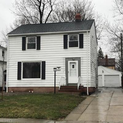 Maple Heights Single Family Home For Sale: 20901 Clare Ave