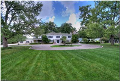 Hunting Valley Single Family Home For Sale: 3482 Roundwood Rd